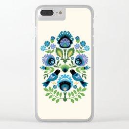 Polish Folk Birds Clear iPhone Case