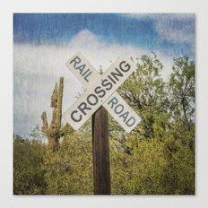 Railroad sign Canvas Print