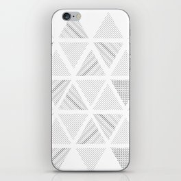 Triangle Hatching Pattern iPhone Skin