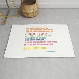 Be the nice kid #minimalism #colorful Rug