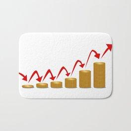 Rising Money Steps Bath Mat
