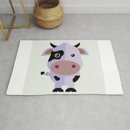Purple cow by Leslie harlo Rug