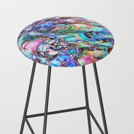 Shimmery Rainbow Abalone Mother of Pearl Bar Stool