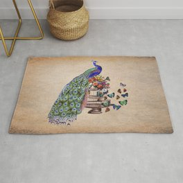 Vintage Peacock Beauty Rug