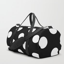 Polka Dot (White & Black Pattern) Duffle Bag