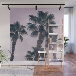 Palm Tree Art Print {2 of 3} | Magenta Pastels Topical Beach Plant Nature Vacation Sun Vibes Artwork Wall Mural
