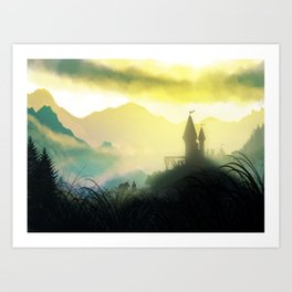 The Mountain Pass Art Print