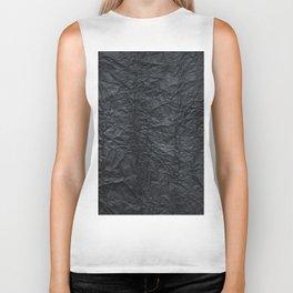 Abstract modern black gray creased paper texture Biker Tank
