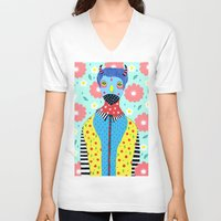 shinee V-neck T-shirts featuring Make Me Colourful by Saif Chowdhury
