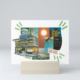 Air Mail Retro Collage Mini Art Print