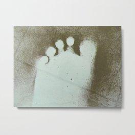Womans Dusty Footprint Metal Print