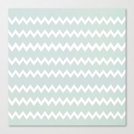 Wedgewood Blue Winter Chevron Design Canvas Print