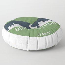 Wonderland Trail Floor Pillow