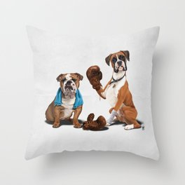 Raging (Wordless) Throw Pillow