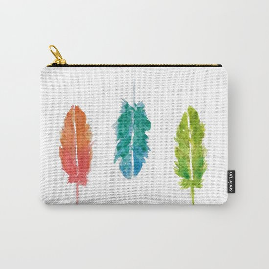 Vibrant color feathers Carry-All Pouch