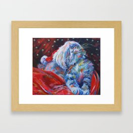 Has Santa been? Has he? Framed Art Print
