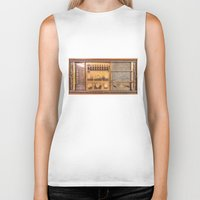 transistor Biker Tanks featuring Vintage Wall Radio by jculver