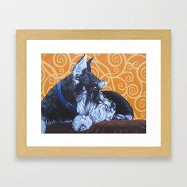 Remmington Schnauzer Framed Art Print