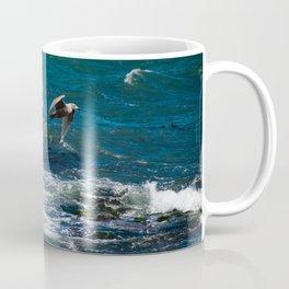 Training Flight - Birds flying over the ocean Coffee Mug