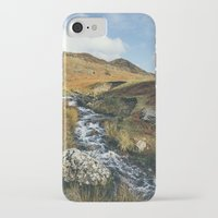 cassia beck iPhone & iPod Cases featuring Cinderdale Beck flowing below Whiteless Pike towards Crummock Water. Cumbria, UK. by liamgrantfoto