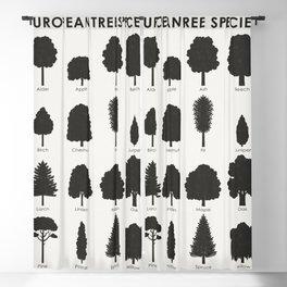 European Tree Species Blackout Curtain