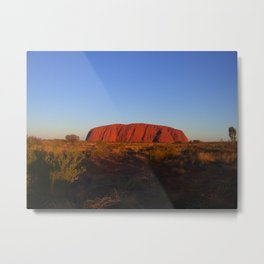 Uluru in the morning Metal Print