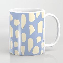 spot doodle_cream on periwinkle Coffee Mug