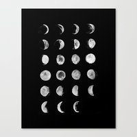 moon phases Canvas Prints featuring Moon Phases by VMoe