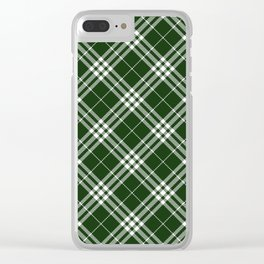 Holiday Plaid 7 Clear iPhone Case