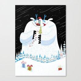 George, the Christmas Yeti  Canvas Print