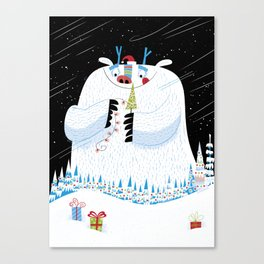 George, the Christmas Yeti  Canvas Print