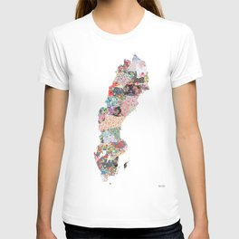 Sweden map T-shirt