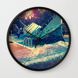 Sinking into the Pool Wall Clock