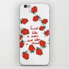 Sweet like a rose iPhone Skin