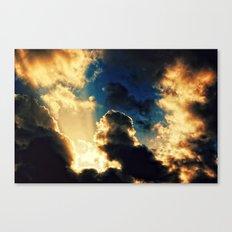 Burning Sky Canvas Print