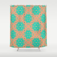 southwest Shower Curtains featuring Southwest Summer by Lisa Argyropoulos