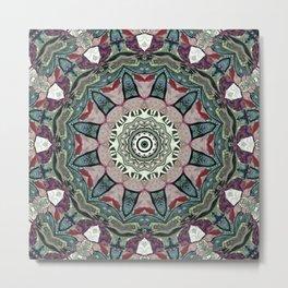 Dug Up Mandala 1 Metal Print