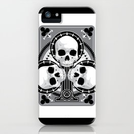 Skull Ace of Clubs iPhone Case