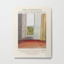 David Hockney. Poster for The 19th New York Film Festival, 1981. Metal Print