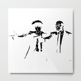 Cowboy Bebop - Spike Jet Knockout Black Metal Print