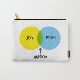The Venn of Improv (Yellow/Blue) Carry-All Pouch