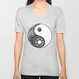 Tangled Yin Yang Unisex V-Neck