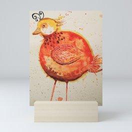 abstract bird Mini Art Print