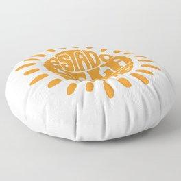 State of mind Orange Ochre Floor Pillow