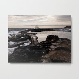 The crashing waves Metal Print