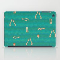 swimming iPad Cases featuring Swimming by Mimi