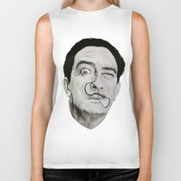 salvador dali Biker Tanks featuring Salvador Dali by Breanna Speed