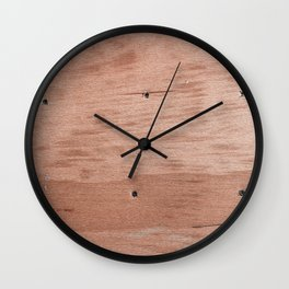 Plywood shipboard with nails and screws Wall Clock