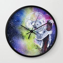 A KOALIFIED Astronaut Wall Clock