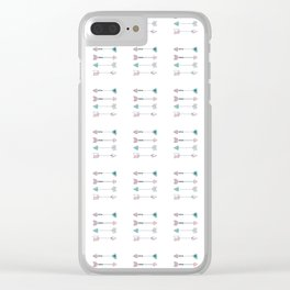 Boho arrows Clear iPhone Case